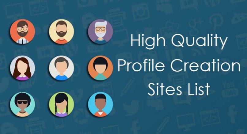 Profile Creation Sites List 2019